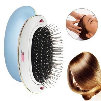 Electric Ionic Hairbrush Portable Mini Anti-Static Scalp Head Massage Comb for Hair Care Hair Modeling Styling Magic Hair Brush image