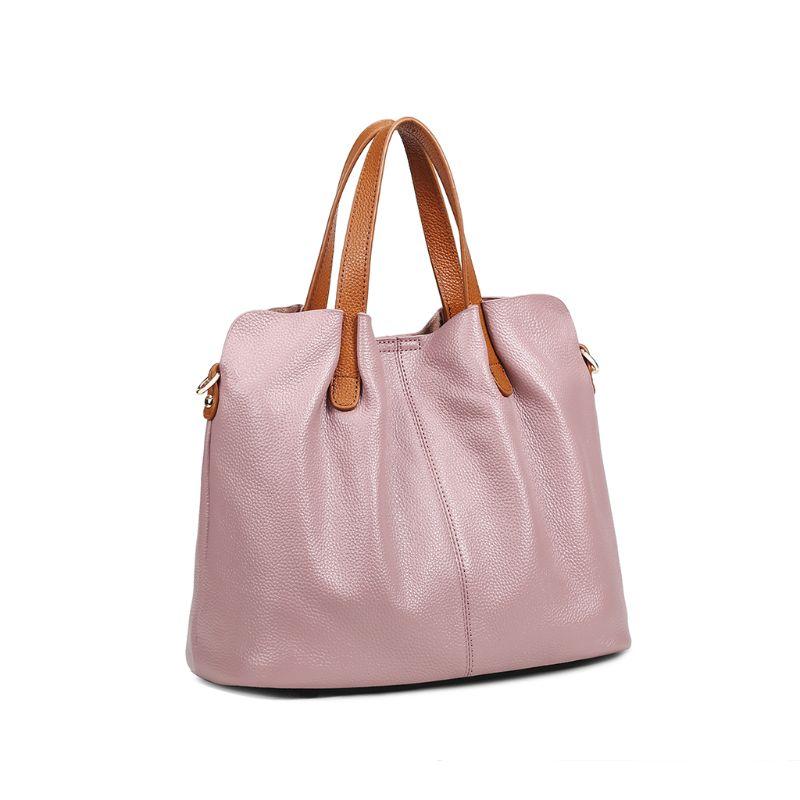 Véritable cuir sacoche sac à main bandoulière sac à bandoulière fourre-tout sac à main avec sac intérieur pour femmes plage voyage fête utilisation fournitures X7XC