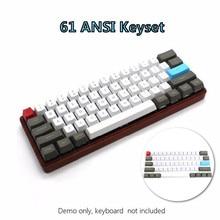 61 chiave ANSI Layout di OEM Profilo PBT Spessore Keycaps per 60% Tastiera Meccanica Per Cherry MX Interruttori Tastiera Gaming keycap Solo