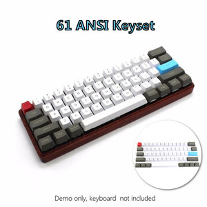Image 1 - 61 clés ANSI mise en page OEM profil PBT touches épaisses pour 60% clavier mécanique pour Cherry MX commutateurs clavier de jeu Keycap seulement