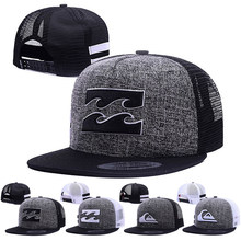 Fashion Hip hop Men baseball cap Wave Mountains printing summer breathable mesh caps outdoor sports sun hat snapback hats gorras