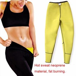 Image 4 - Lazawg Vrouwen Sauna Gewichtsverlies Zweet Controle Pant Afslanken Neopreen Hot Leggings Slim Fitness Workout Hot Thermo Zweet Leggings