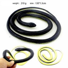 130cm Realistische Rubber Slang Speelgoed Holloween Party Real Prank Snake Halloween Party Decor Terroristische Trick Toys Simulatie Snake(China)