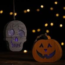 Halloween Decoration Hanging Lantern Pendant Door Window Pumpkin Strips Party Festival PropsCM