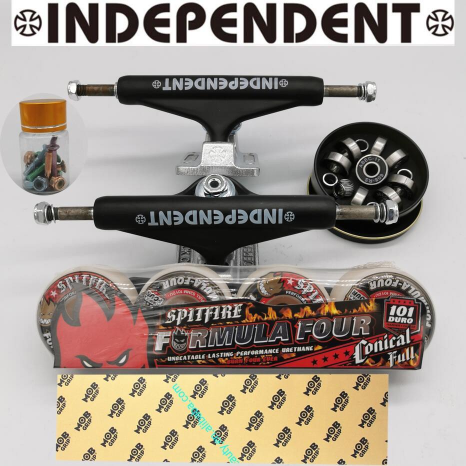 Independent Skateboard Trucks Spitfire Skateboard Wheels Good Skateboard Bearings ABEC-11 MOB Grip Tape Professional Level