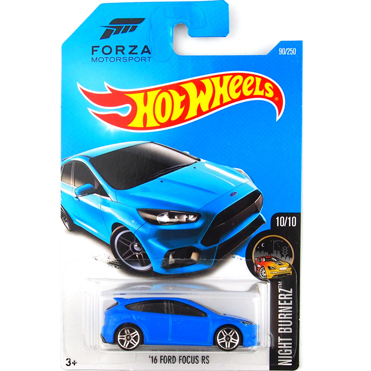 Hot Wheels 1:64 Car FORD FOCUS RS Forza Motorsport Collector Edition Metal Diecast Model Cars Kids Toys Gift