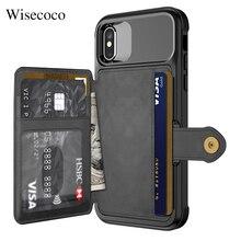 Wielofunkcyjny portfel skórzany pokrowiec na Iphone 12 Mini 11 PRO Xs Max Xr X 8 7 6 6s Plus SE 2020 stojak hybrydowy silikonowy zderzak