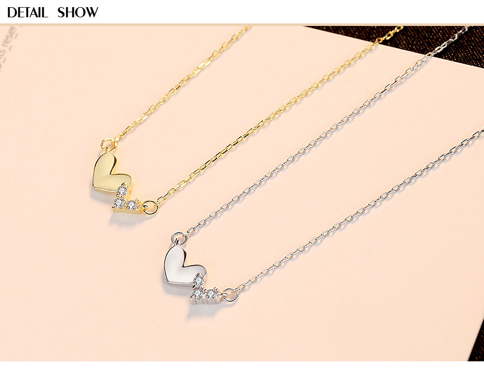 S925 sterling silver new fashion jewelry female clavicle pendant