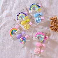 Rainbow Lollipop Cute Children Hairpin Lovely Hair Clips Accessories For Girls Kids Hair Ornament Barrettes Hairclip Headdress
