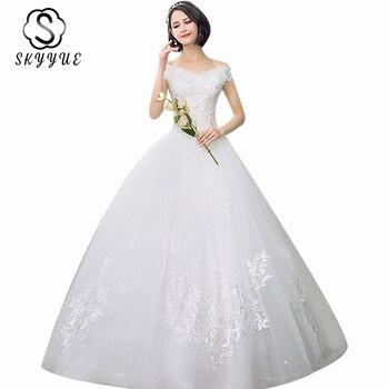 Elegant Boat Neck Wedding Gowns Skyyue ER703 Off The Shoulder Vestidos De Novia Plus Size 2020 Long Wedding Dresses