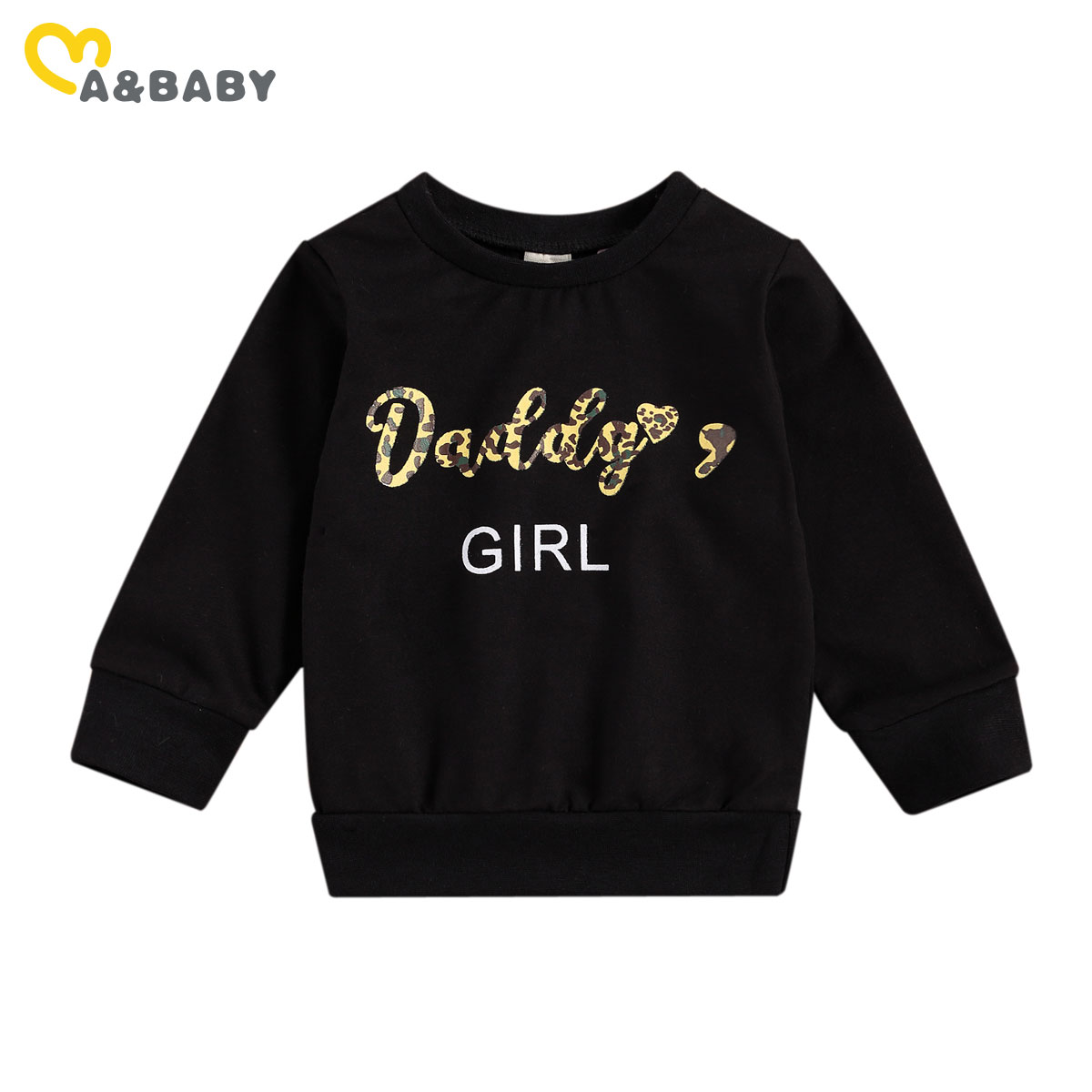 Ma&Baby 0-3Y Autumn Spring Toddler Newborn Infant Baby Girls Hoodies Letter Camo Long Sleeve Sweatshirts Girl Clothing 1