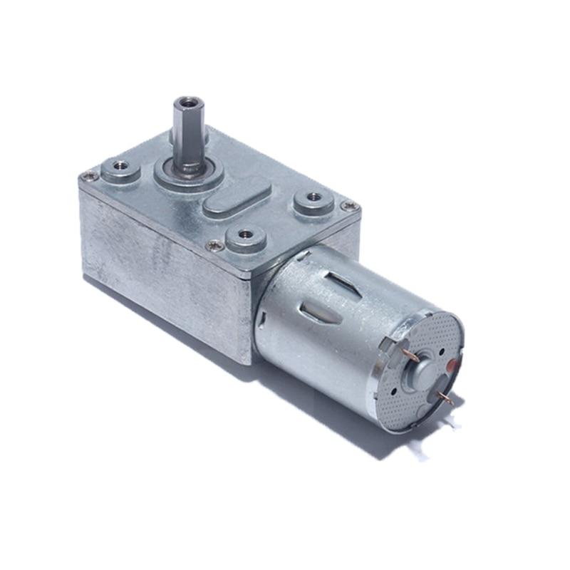 JGY-370 Reduction Motor, DC 6V 12V 24 V High Torque Turbo Worm Geared Motor for Range Hood Nesting Machine Smart Equipment