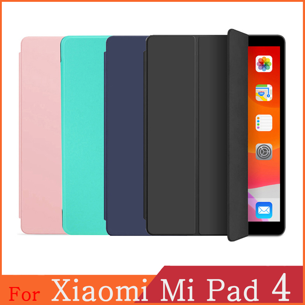 Funda For Xiaomi Mi Pad 4 WI-FI LTE 5G WiFi PU Leather Flip Cover Tablet Case Kickstand Folio Capa Shell