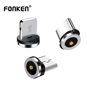 FONKEN Magnetic Cable Adapter Mobile Phone Cable Micro USB Type C Dustproof Magnetic Tips For Iphone Magnet Charger Connector