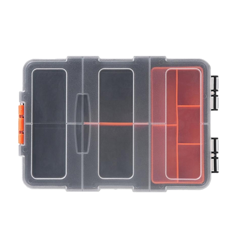New-F-156 Portable Plastic Tool Parts Storage Box Suitcase Electrician Tool Box Suitcase Case Holder For Storage Tools