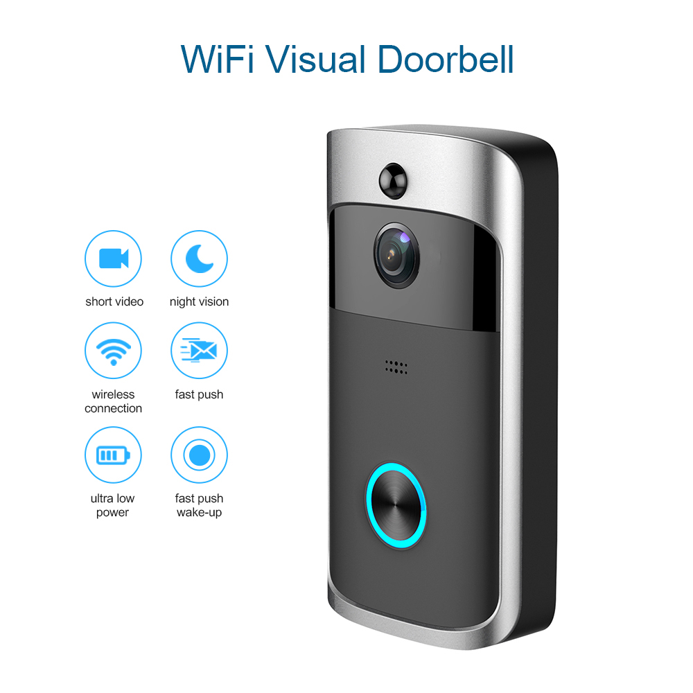 Smart Wireless Doorbell Wifi Home Security Video Door Viewer Call Ring Door Bell With Camera Digital Video Eyes For The Door