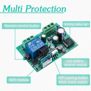 Image 5 - Commutateur intelligent de gazon dirrigation de TUYA avec Wi Fi, 1CH c. C 12V 24V 36V 10A 433 Mhz récepteur à distance de relais pour la commande vocale bricolage LED
