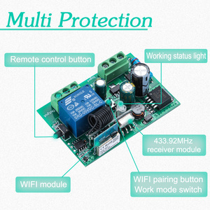 Image 5 - TUYA Smart irrigation turf switch with Wi Fi, 1CH DC 12V 24V 36V 10A 433 Mhz remote relay receiver for voice control DIY LED
