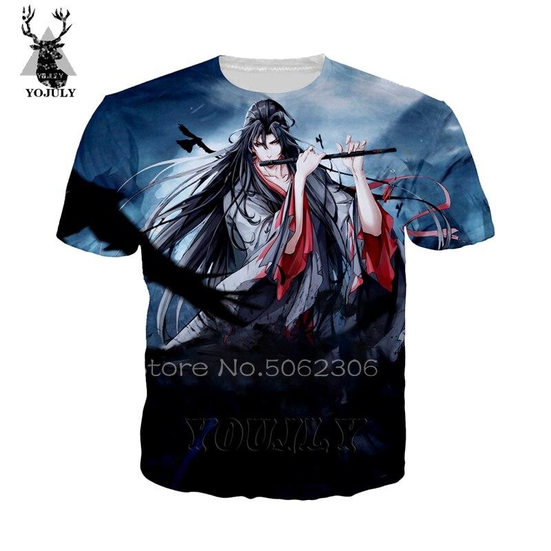 Mo Dao Zu Shi T Shirt Funny Wei Wuxian Men's T-shirts 3D Print Anime Harajuku Cosplay Tee O-neck Short Sleeve Streetwear Tops 67