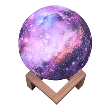цены LEADLY Painted Starry Night Light Moon Lamp 3D Touch Home Decor Creative Gift Usb Led Night Light Galaxy Lamp LED Moon Light