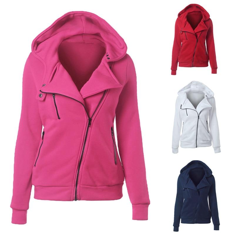 2019 New Women Hoodies Sweatshirts Fashion Long Sleeve Hoodies Jackets Zipper Hoody Jumper Female Sweatshirts Harajuku