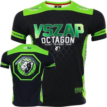 VSZAP Cage fighting T-shirt Thai Boxing Elastic Quick-dry Short sleeve training men MMA fitness boxing ring