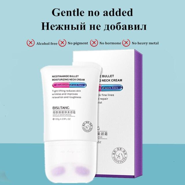 Double Oller V-Type Neck Cream 120g Massager Nourish Neck Care To Fade Neckline Wrinkle Lifting Firming Brighten Neck Mask