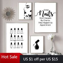 Wall Decoration Beauty Salon Art Canvas Painting Nail Salon Polish Quote Posters Modular Picture Print Abstract Gift Room Decor(China)