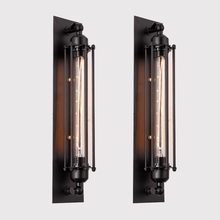 KLUZZI american iron wall lamp Vintage black wall light indoor iron led sconce lamp  lights for bar or balcony Corridor porch