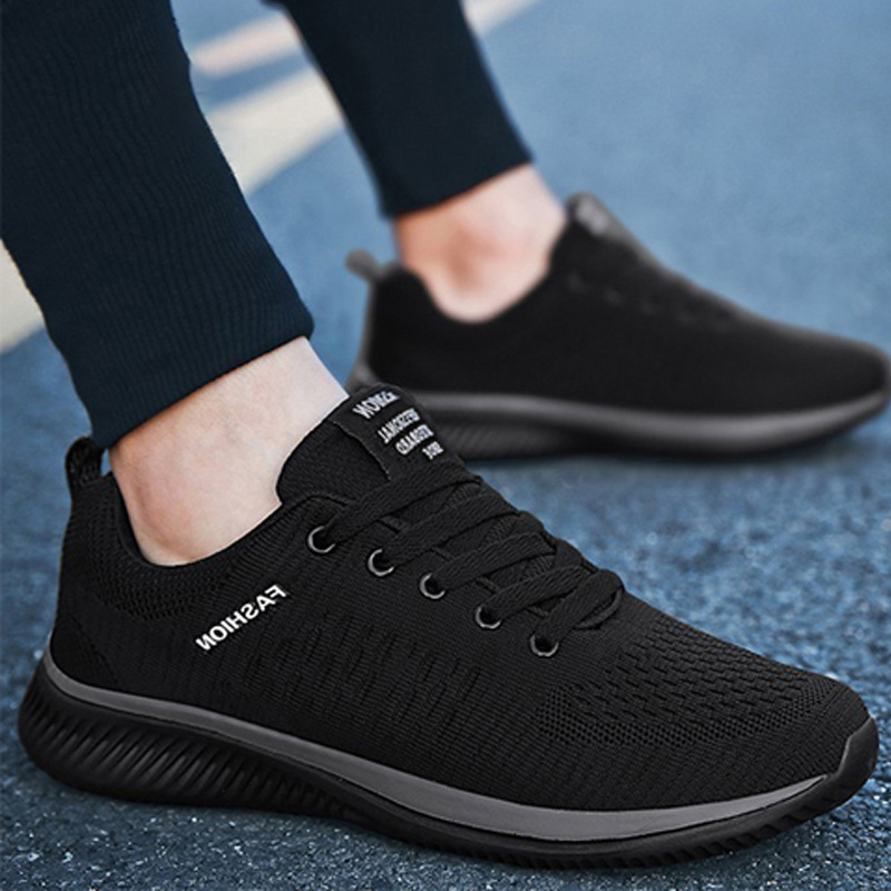 Spring And Summer 2019 Korean Trend Men's Shoes, Sports And Leisure, Men's Running Trend Shoes, Flying Weave Men's Shoes