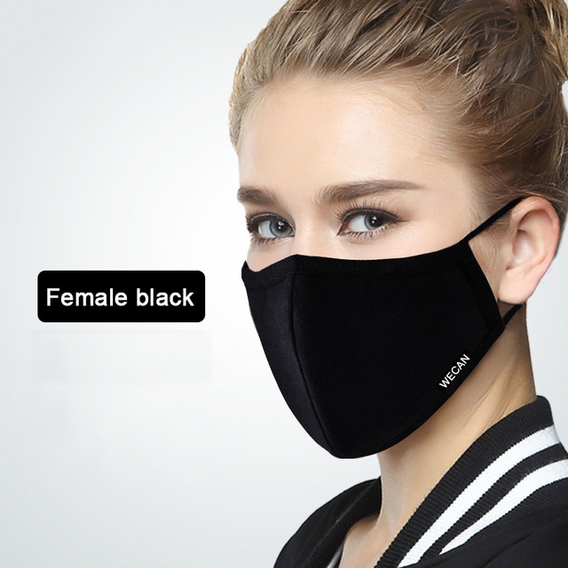 Kpop Cotton Dustproof Face Mouth Mask for Winter Running With Carbon Filter Black Mask On The Mouth 1