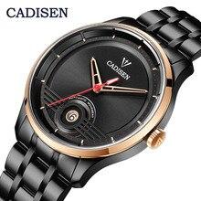 CADISEN Лидирующий бренд для мужчин механические часы Автоматические Япония NH35 движение для мужчин t Мода Роскошные нержавеющая сталь мужские часы Relogio Masculino
