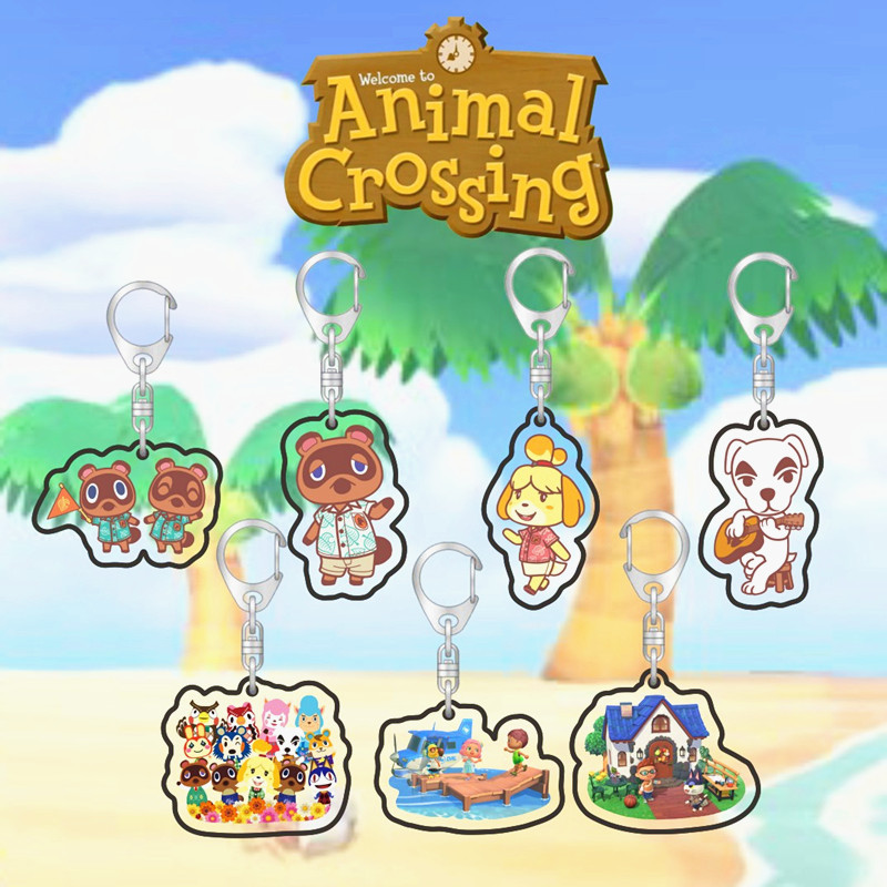 Game Animal Crossing Two-sided Acrylic Keychain Anime Keyring Cosplay Props