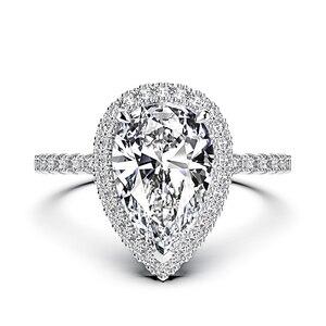 Image 5 - Juegos de anillos de compromiso con piedras preciosas de molissanita, pera de plata esterlina sólida 925, banda de boda, joyería fina, venta al por mayor