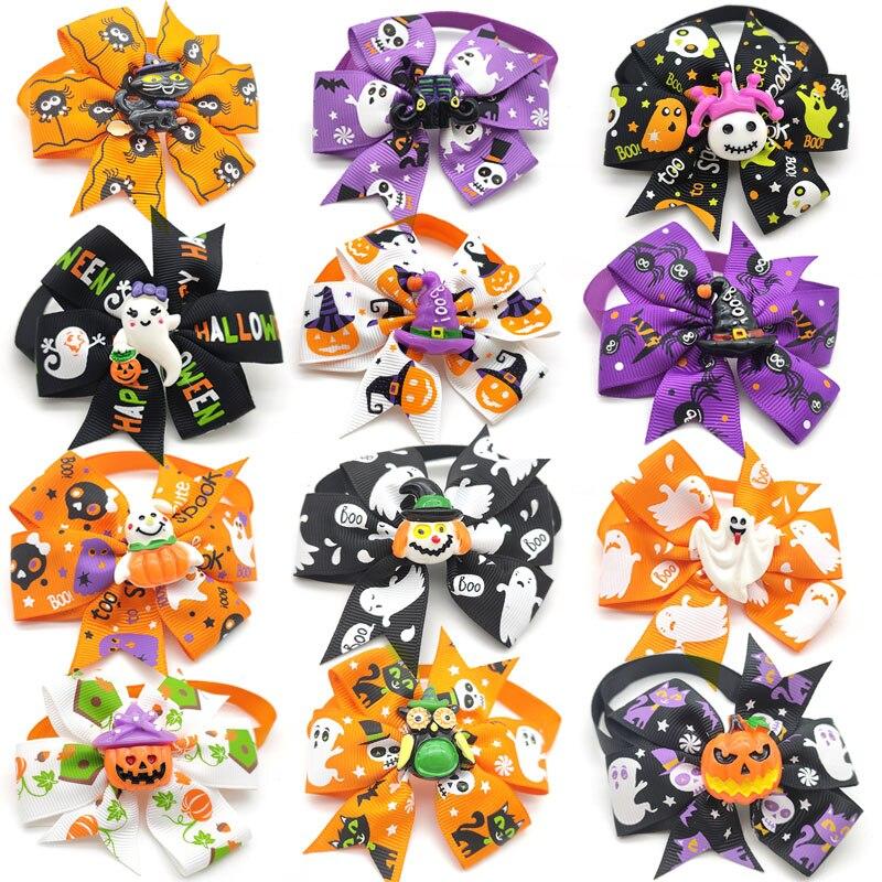 Купить 20/50 шт хэллоуин для домашней собаки галстук бабочка большие