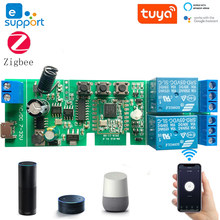 2CH DC5-32v Ewelink ZigBee Relay Module Remote Control Light Switch Vioce Alexa Google Home Sonoff/Tuya Smart Hub Gateway Bridge