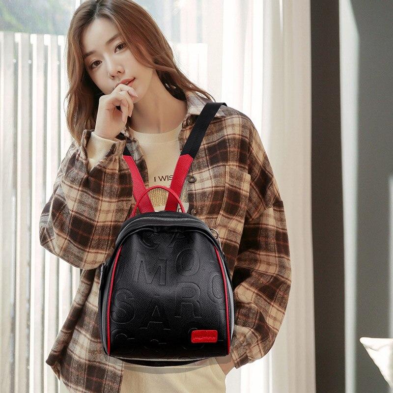 Moda de luxo das mulheres mochila alta