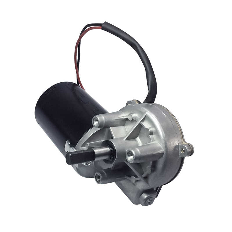 DC Gear Motor Garage Door Raplacement 12V 24V 45/50RPM DC Electric Bicycle Worm Gear Motor Left&Right Angle Double Flat Shaft