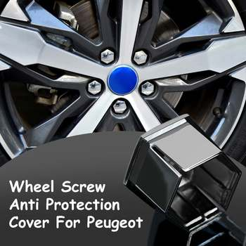 1/4/16pcs Car Wheel Hub Screw Cap Wheel Screw Anti Protection Cover for Peugeot 207 3008 307 308 2008 408 508 407 4008 image