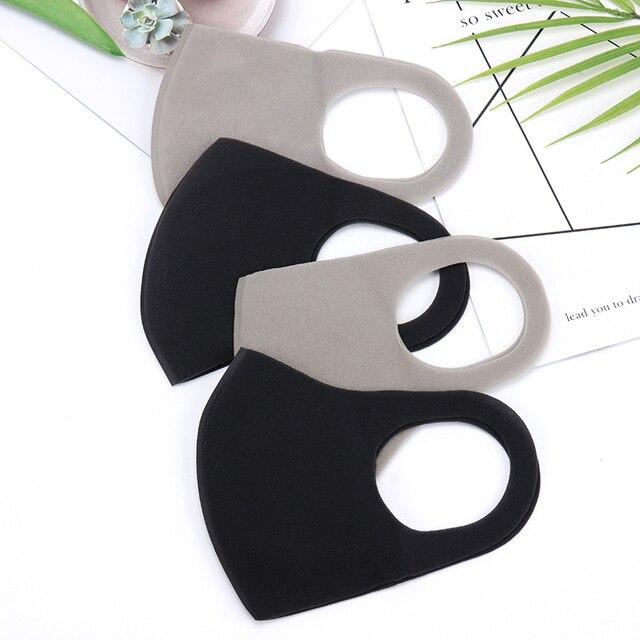 1PC Black Korean Version Sponge Mouth Mask Breathable Unisex Sponge Face Mask Reusable Anti Pollution Face Shield 2