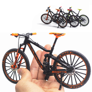 1:10 Mini Model Alloy Bicycle toy Finger Mountain bike Pocket Diecast simulation Metal Racing Funny Collection Toys for children