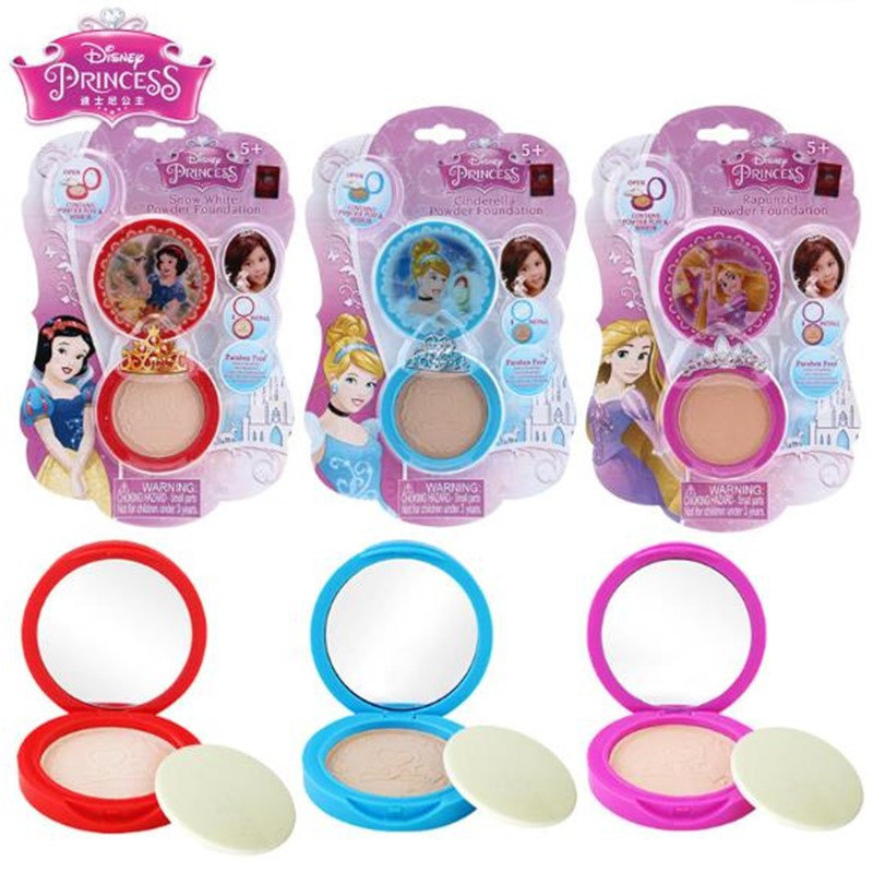 Disney Snow White For Girls Children Make-up Birthday Presents Interest Development Pretend Play Moisture Soft Pressed Powder