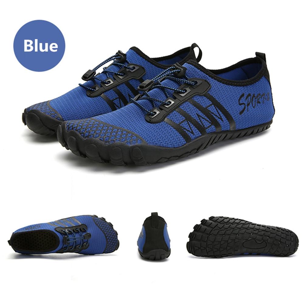de água upstream aqua sapatos cinco dedos