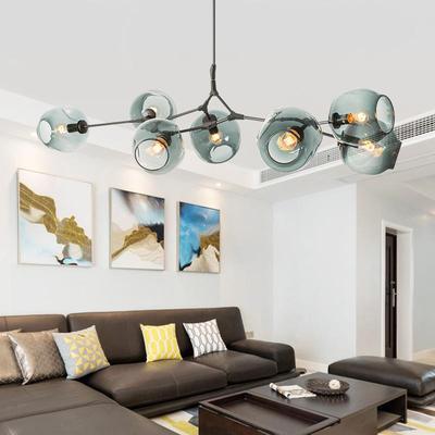 Modern Chandeliers Lighting Ball Pendant Lamp Gold Metal Hanging Lamp Living Room Dinning Room Light Fixtures