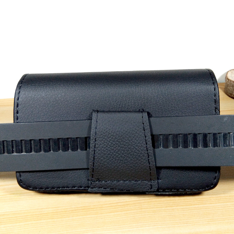 Outdoor Sports Men Mobile Phone Waist Bag Wear Leather Belt Single Layer Double Magnetic Snap Mobile Phone Cellphones Multi-Size