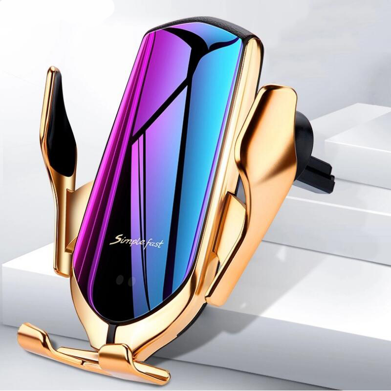 Car Mobile Holder For Phone With Wireless Charger Mount S5 Car Mount Phone Holder Gravity Infrared For Samsung Iphone