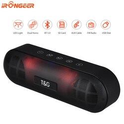 20W Led Night Draagbare Bluetooth Speaker Waterdichte Draadloze Kolom Boom Box Subwoofer Tf Aux Fm Radio Smart Usb Speaker voor Pc