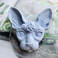 Beerus головы глина силиконовые формы для выпечки формы для бетона украшения Dragon ball канадская кошка без шерсти силиконовая эпоксидная штукату...