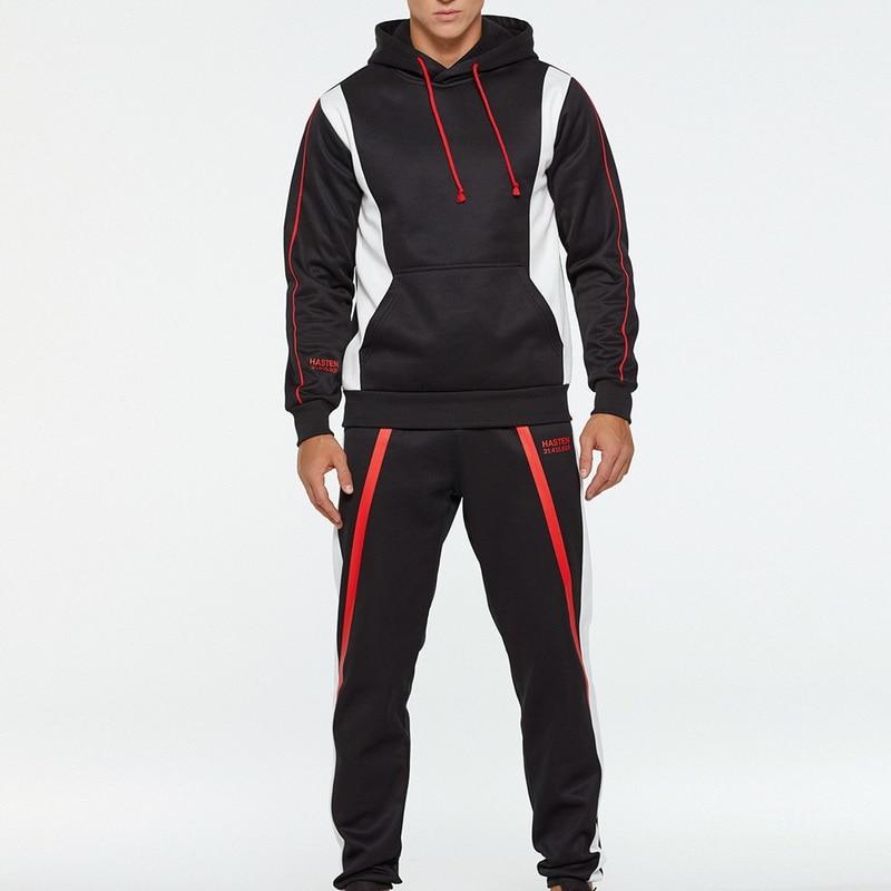CYSINCOS New 2020 Spring Men's Sweatsuit Sets 2 Piece Zipper Jacket Track Suit Pants Casual Tracksuit Men Sportswear Set Clothes