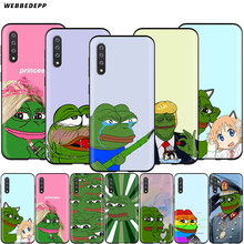 Webbedepp Meme Smug FROG Pepe สำหรับ Samsung Galaxy S7 S8 S9 S10 PLUS EDGE หมายเหตุ 10 8 9 A10 a20 A30 A40 A50 A60 A70(China)